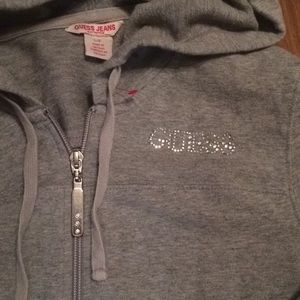 Guess hoodie large gray